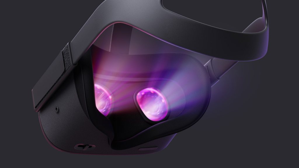 Thow Oculus Quest, one of several standalone VR headsets.